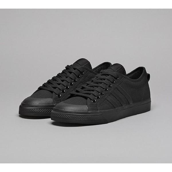 Günstig Adidas Nizza Low Herren Schwarz Leinenschuhe Auslauf