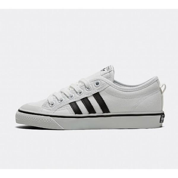 Neu Adidas Nizza Damen Weiß Leinenschuhe Online