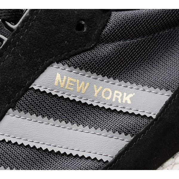 Neu Adidas New York Herren Schwarz Turnschuhe Outlet