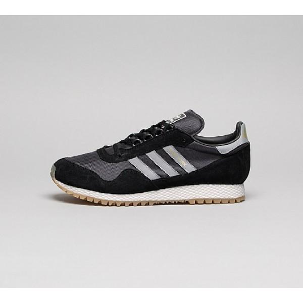 Neu Adidas New York Herren Schwarz Turnschuhe Outl...