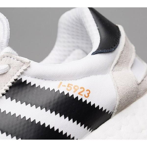 Neu Adidas I-5923 Boost Runner Herren Weiß Laufschuhe Outlet