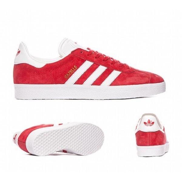 Neu Adidas Gazelle Herren Rot Turnschuhe Outlet