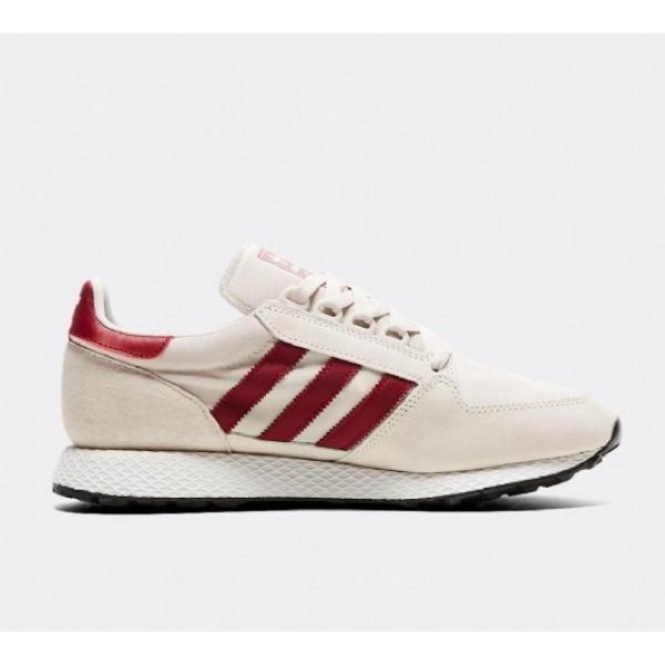Neu Adidas Forest Grove Herren Beige Laufschuhe Auf Verkauf