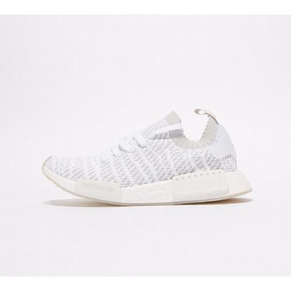 Neu Adidas NMD R1 STLT Primeknit Damen Weiß Laufschuhe Verkauf