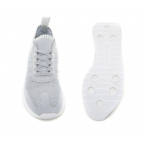 Neu Adidas FLB Primeknit Damen Grau Laufschuhe Outlet