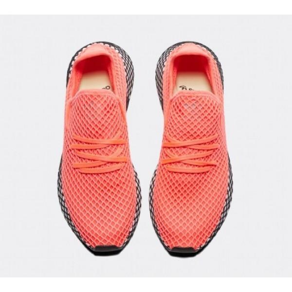 Neu Adidas Deerupt Runner Herren Rot Laufschuhe Auslauf