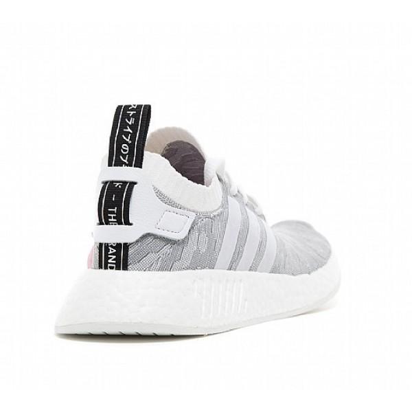 Billig Adidas NMD R2 Primeknit Damen Weiß Laufschuhe Auslauf