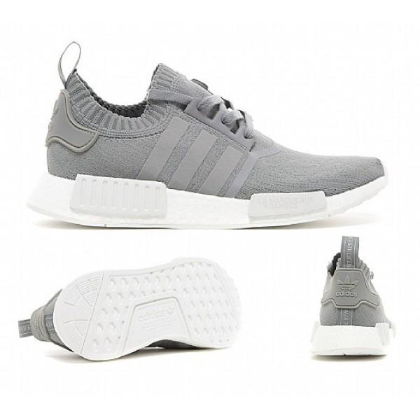 Billig Adidas NMD R1 Primeknit Herren Grau Laufschuhe Online Bestellen
