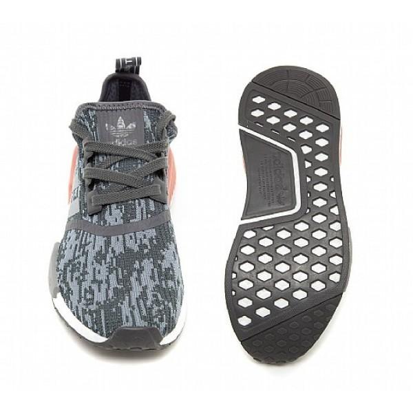 Billig Adidas NMD R1 Damen Grau Laufschuhe Online