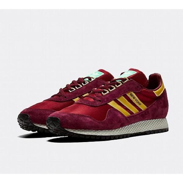 Billig Adidas New York Herren Kastanienbraun Turnschuhe Online