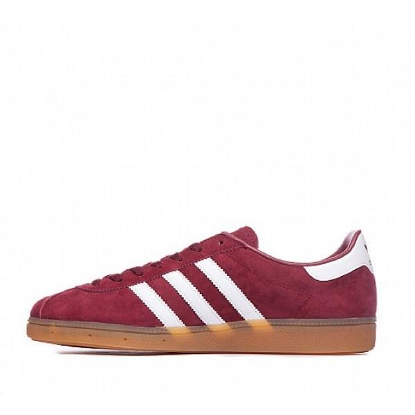 Billig Adidas Munchen Herren Rot Turnschuhe Auslauf