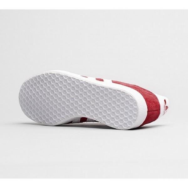 Billig Adidas Gazelle Damen Rot Turnschuhe Auslauf