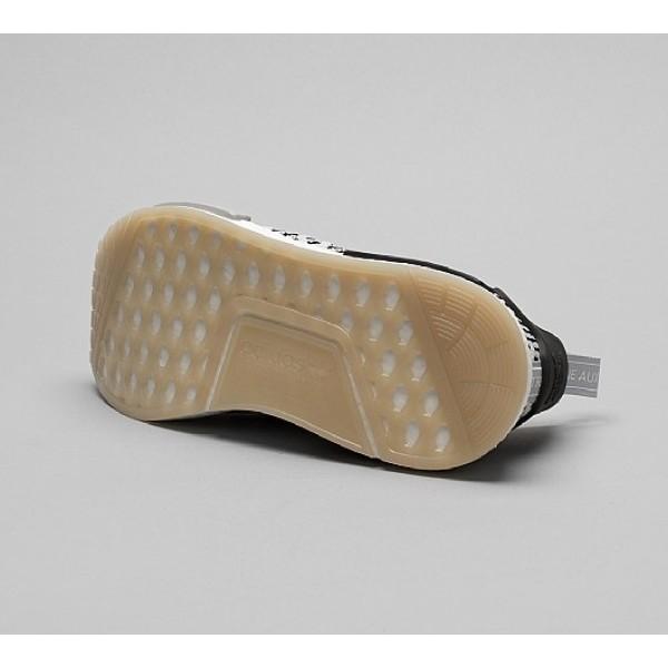 Billig Adidas NMD R1 STLT Primeknit Herren Grau Laufschuhe Outlet