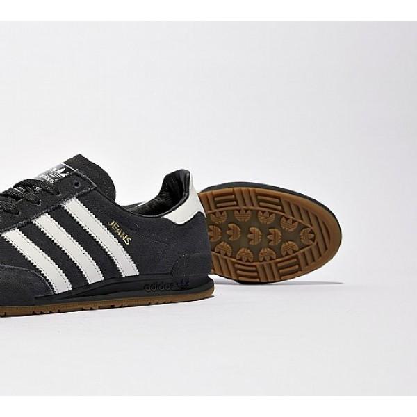 Billig Adidas Jeans Herren Schwarz Turnschuhe Auf Verkauf