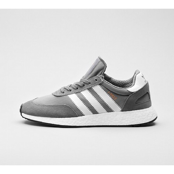 Billig Adidas I-5923 Boost Runner Herren Grau Lauf...