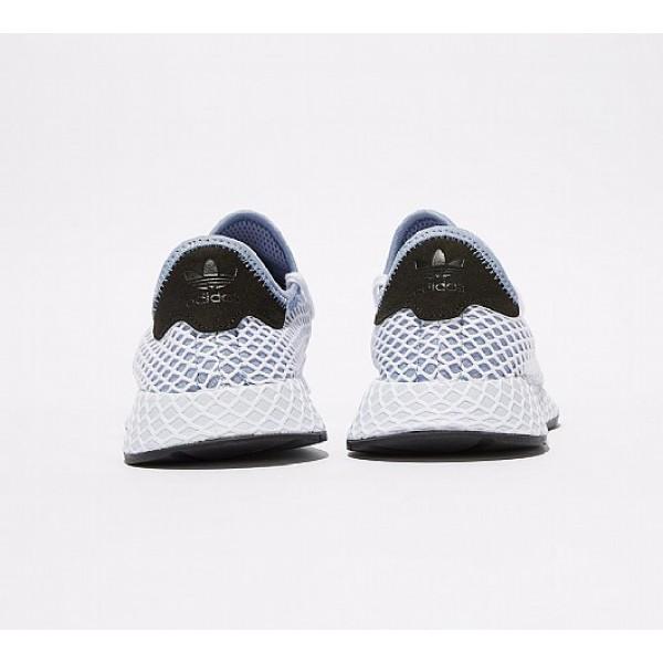 Billig Adidas Deerupt Runner Damen Blau Laufschuhe Outlet