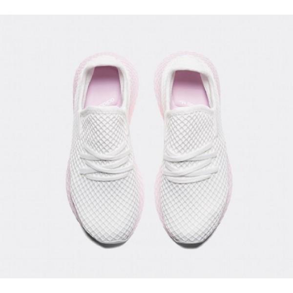 Günstig Adidas Deerupt Runner Damen Weiß Laufschuhe Auf Verkauf