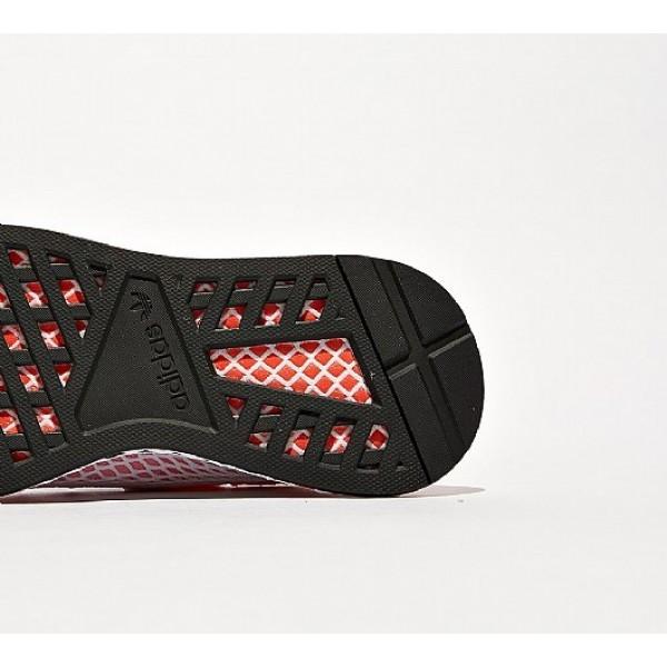 Günstig Adidas Deerupt Runner Damen Rot Laufschuhe Auslauf
