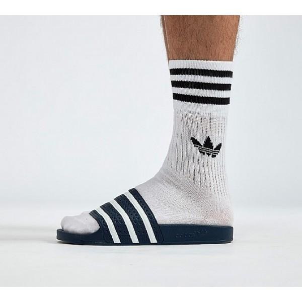 Günstig Adidas Adilette Herren Blau Sandalen Auf Verkauf