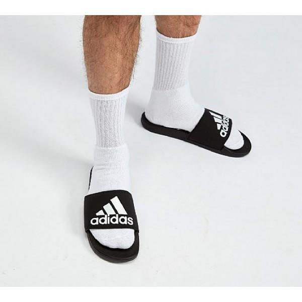 Günstig Adidas Adilette Cloudfoams Herren Schwarz Sandalen Auf Verkauf