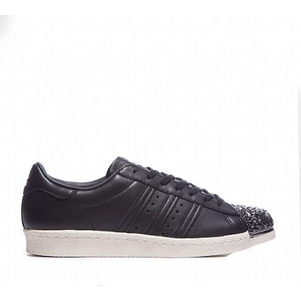 Billig Adidas Superstar 80's 3D Metal Shell Toe Herren Schwarz Turnschuhe Auslauf
