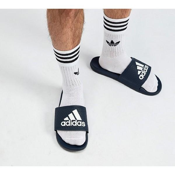 Billig Adidas Adilette Cloudfoams Herren Navy Sandalen Verkauf