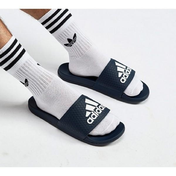 Billig Adidas Adilette Cloudfoams Herren Navy Sand...