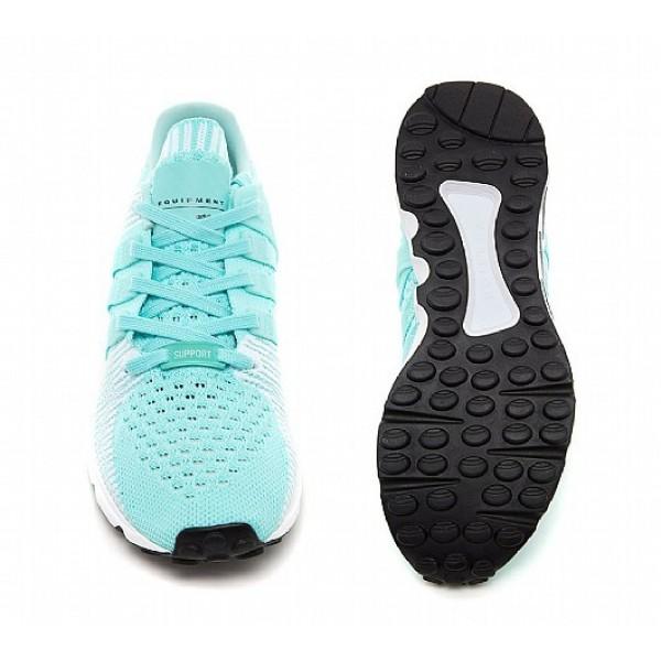 Billig Adidas EQT Support ADV Primeknit Damen Aqua Basketballschuhe Auslauf