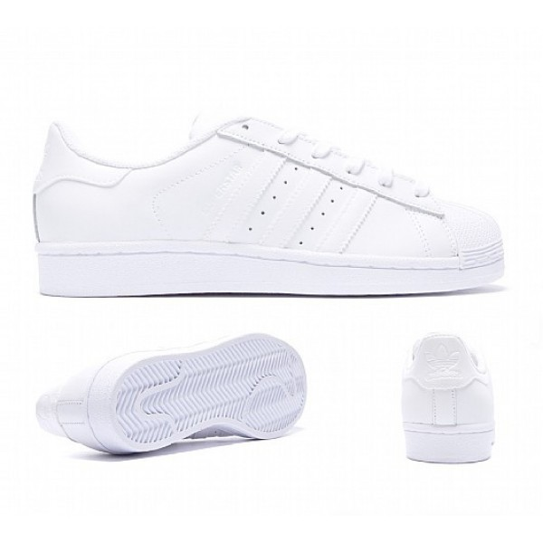 Neue Adidas Superstar Foundation Damen Weiß Turns...