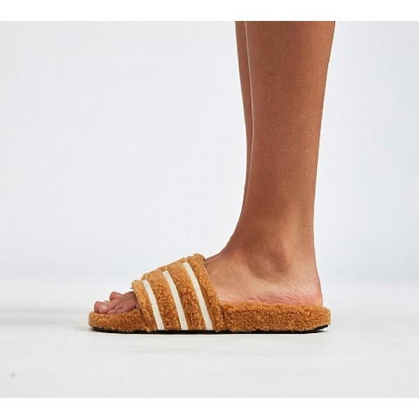 Stilvoll Adidas Adilette Fur Damen Bräune Sandalen Outlet