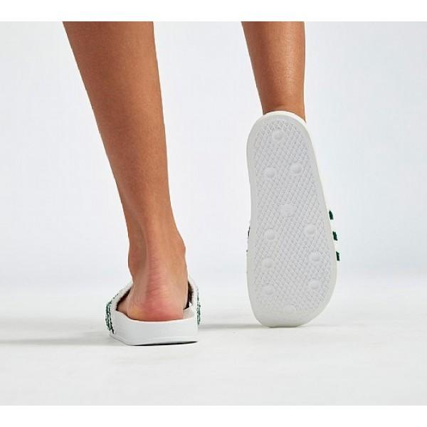 Stilvoll Adidas Adilette Twill Herren Weiß Sandalen Online Bestellen