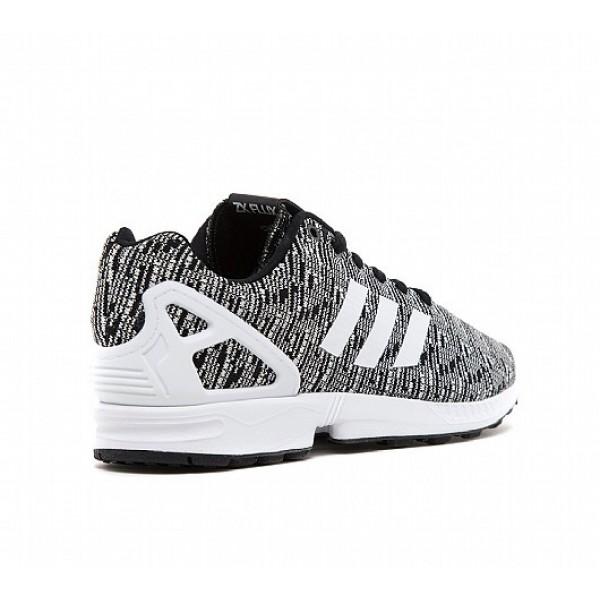 Neue Adidas ZX Flux Knit Herren Schwarz Laufschuhe Auslauf
