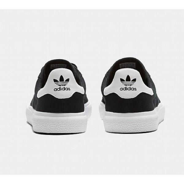 Stilvoll Adidas 3MC Herren Schwarz Skate Schuhe Auf Verkauf