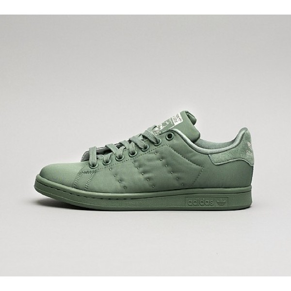 Neue Adidas Stan Smith Satin Damen Grün Laufschuh...