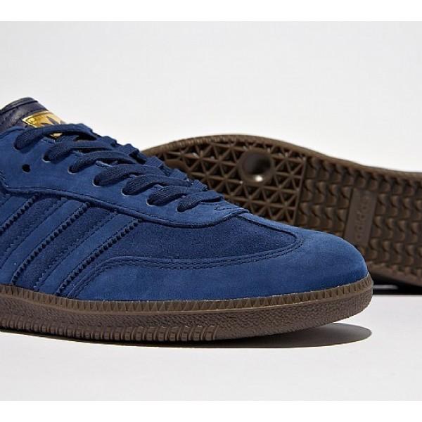 Neue Adidas Samba FB Herren Blau Turnschuhe Auslauf