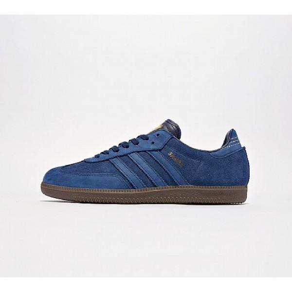 Neue Adidas Samba FB Herren Blau Turnschuhe Auslau...