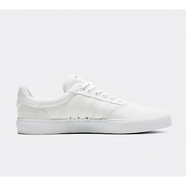 Günstig Adidas 3MC Herren Weiß Skate Schuhe Online
