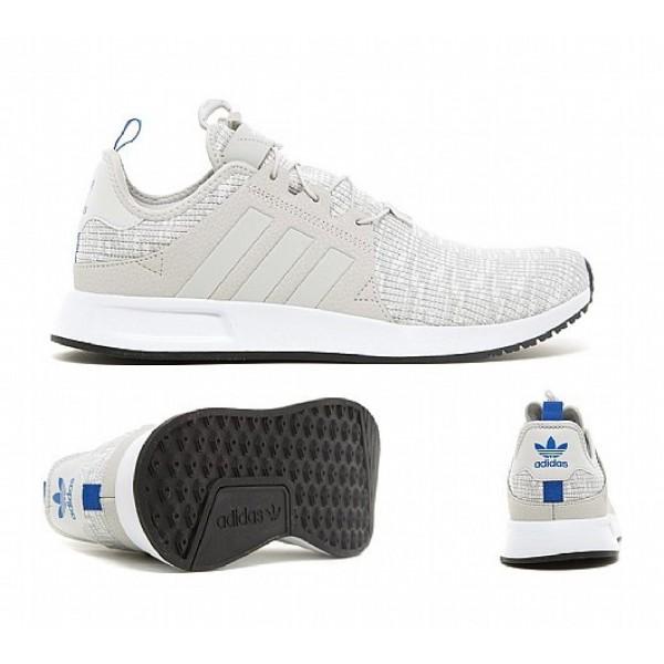 Billig Adidas X PLR Knit Herren Grau Laufschuhe Auslauf