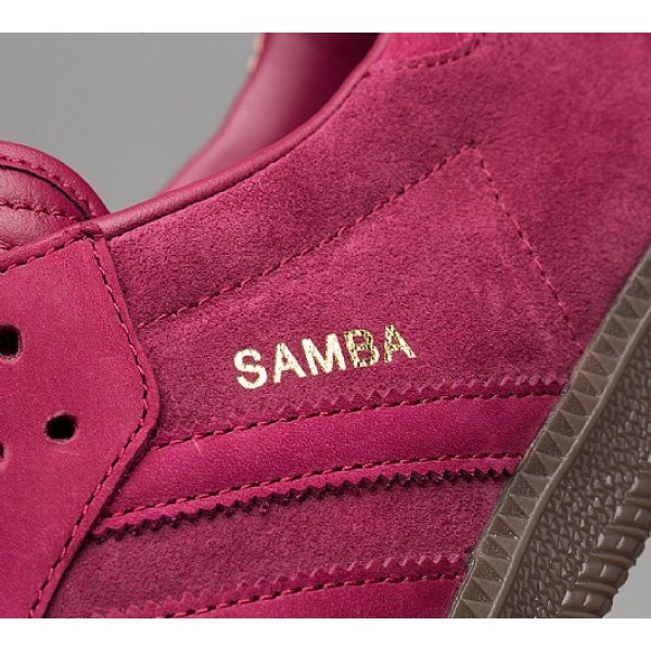 Stilvoll Adidas Samba FB Herren Magenta Turnschuhe Outlet