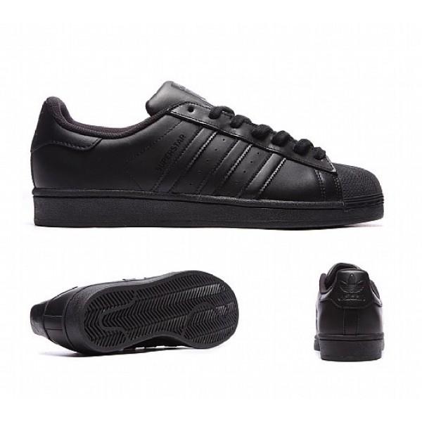 Stilvoll Adidas Superstar Foundation Herren Schwar...