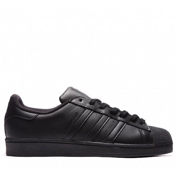 Stilvoll Adidas Superstar Foundation Herren Schwarz Turnschuhe Outlet