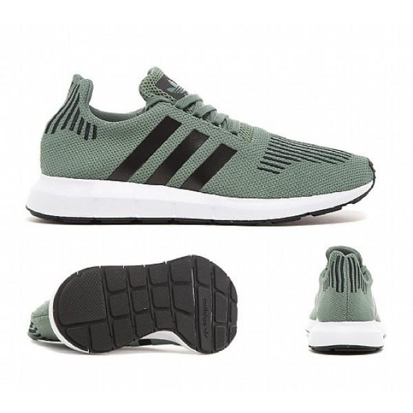 Stilvoll Adidas Swift Herren Olive Laufschuhe Verkauf