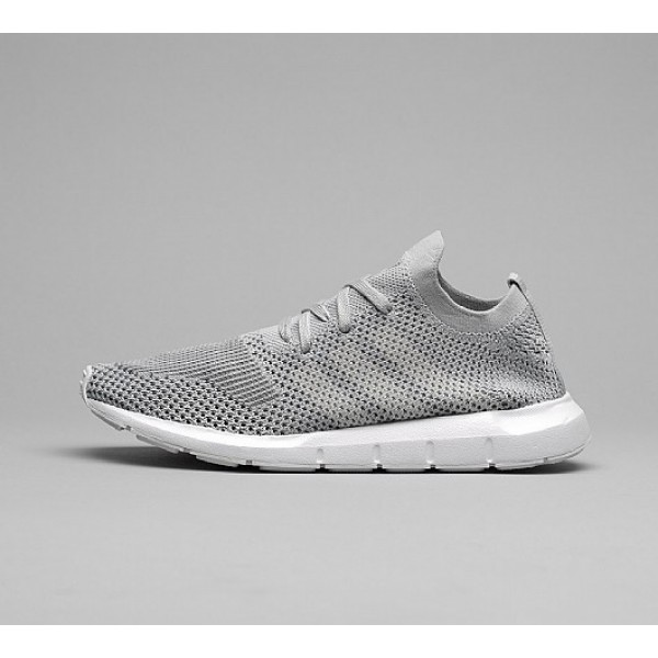 Stilvoll Adidas Swift Run Primeknit Damen Grau Lau...