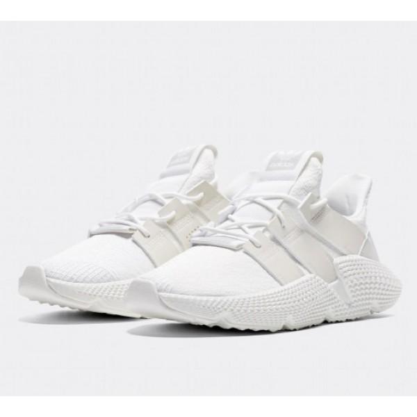 Stilvoll Adidas Prophere Herren Weiß Laufschuhe Verkauf