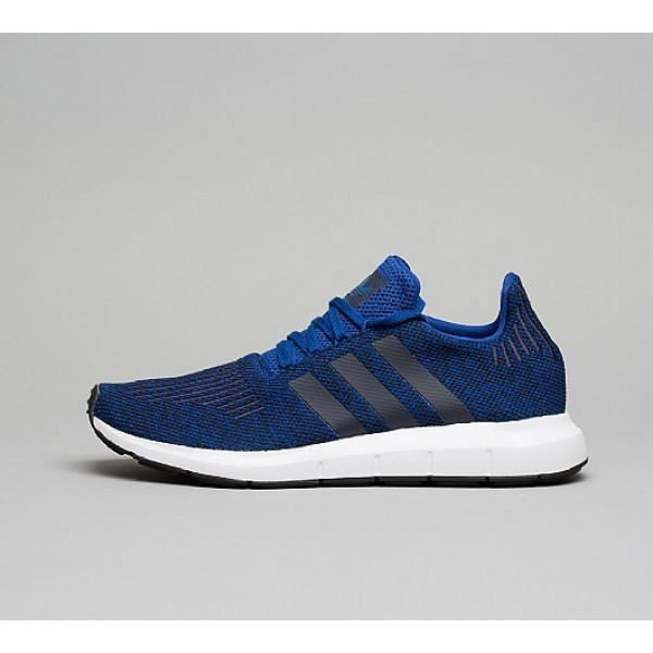 Neue Adidas Swift Run Herren Blau Laufschuhe Auf V...