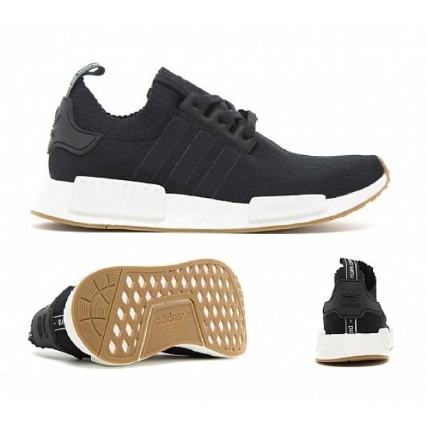 Neue Adidas NMD R1 Primeknit Herren Schwarz Laufschuhe Auslauf