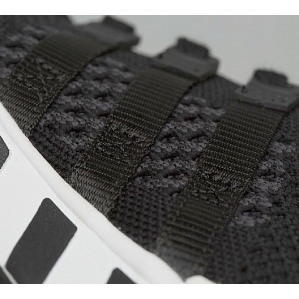 Neu Adidas EQT Support RF Primeknit Herren Schwarz Laufschuhe Auslauf