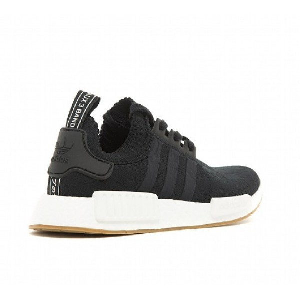 Neue Adidas NMD R1 Primeknit Damen Schwarz Laufschuhe Auslauf