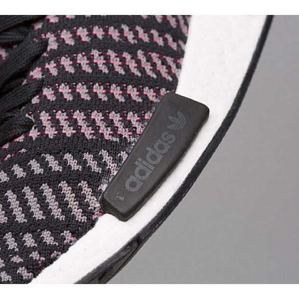 Stilvoll Adidas NMD R1 STLT Primeknit Damen Schwarz Laufschuhe Verkauf