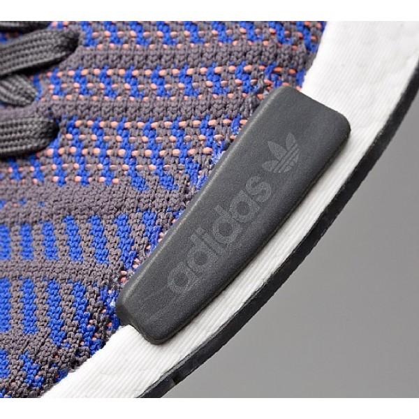 Stilvoll Adidas NMD R1 Primeknit STLT Herren Blau Laufschuhe Outlet